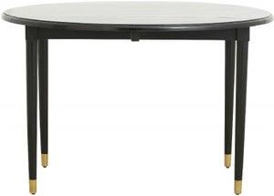 NORDAL AHR Black Mango Wood Round Filp Top Dining Table
