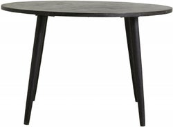 NORDAL Hau Black Mango Wood Round Dining Table
