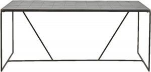 NORDAL Tajo Black Tile Dining Table