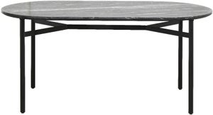 NORDAL Taupo Black Marble Oval Dining Table