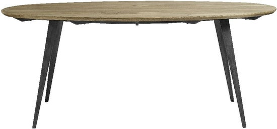 NORDAL Scandia Mango Wood Oval Dining Table
