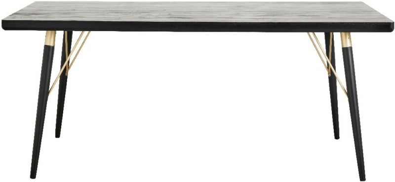 NORDAL Black and Gold Dining Table