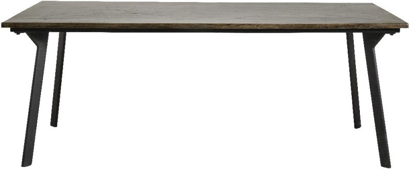NORDAL Chestnut Brown Shiny Squares Dining Table