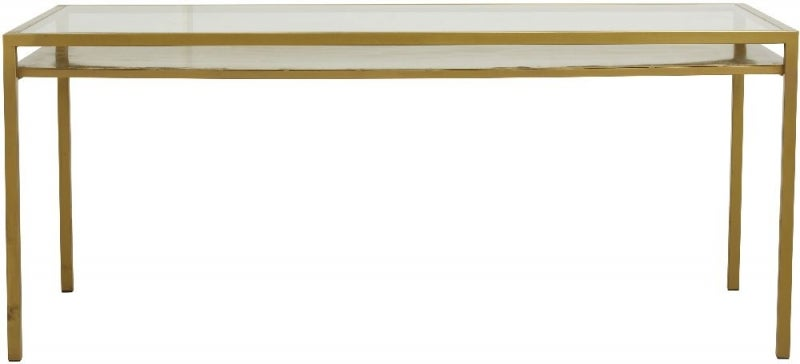 NORDAL Etne Gold and Glass Dining Table