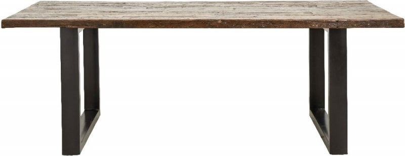 NORDAL Vintage Wood and Metal Dining Table