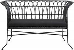 NORDAL Alba Black Garden Sofa