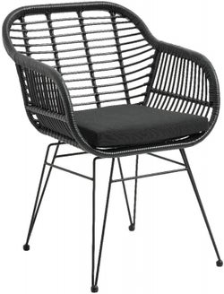 NORDAL Black Garden Armrest Chair