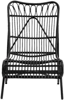NORDAL Hazel Black Garden Lounge Chair