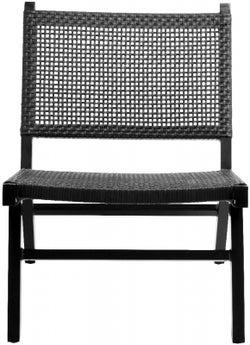 NORDAL Vasai Black Garden Lounge Chair