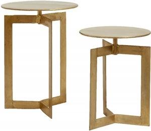NORDAL Nyasa Gold Nest of 2 Table