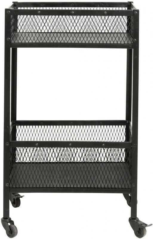 NORDAL Easy Black Small Trolley Table