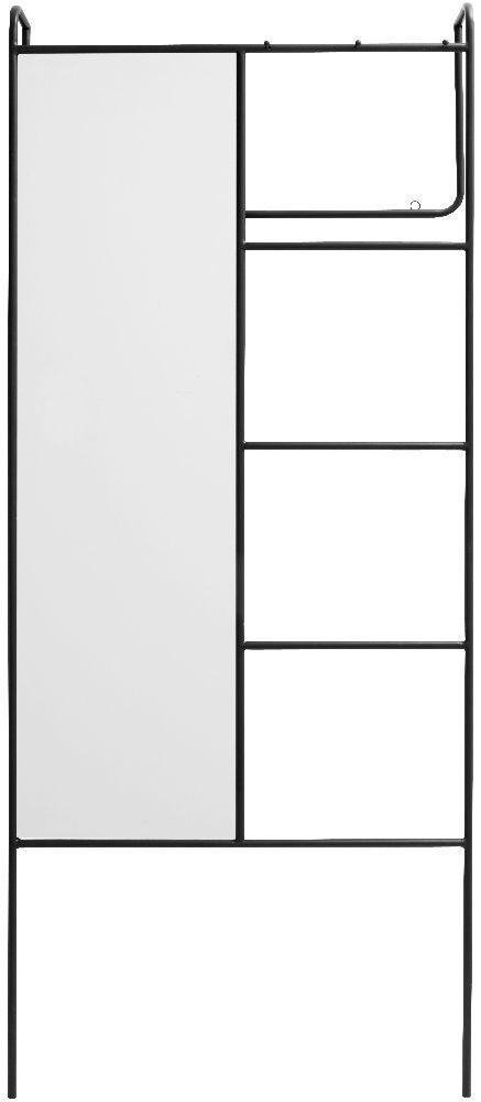 NORDAL Black Mirror Coat Rack
