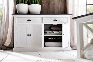 Nova Solo Halifax Contrast Buffet - White and Black