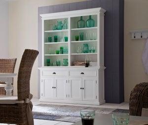 Nova Solo Halifax White Hutch Bookcase