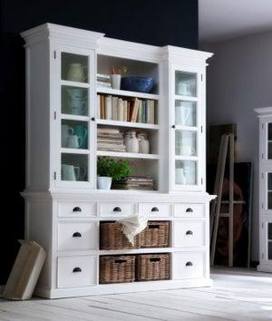 Nova Solo Halifax White 4 Basket Library Hutch Unit