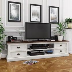 Nova Solo Halifax White Painted Accent TV Unit
