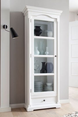 Nova Solo Provence White Glass Cabinet