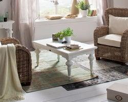 Nova Solo Provence White Rectangular Coffee Table