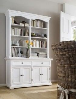 Nova Solo Provence White Hutch Cabinet