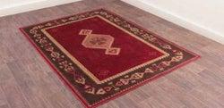 Oushak Tabriz Red Luxury Polyester Rug