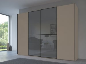 Rauch 20UP Front 1A Sliding Wardrobe with Glossy Glass Front