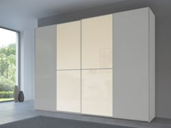 Rauch 20UP Front 1A Sliding Wardrobe with Matt Glass Front