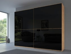 Rauch 20UP Front 2A Sliding Wardrobe with Glossy Glass Front