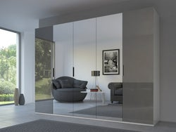 Rauch 20UP Front 3A Sliding Wardrobe with Mixed Mirror Front