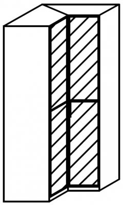 Rauch 20UP Front 3B Corner Wardrobe
