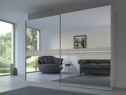 Rauch 20UP Front 4B Sliding Wardrobe with Mirror Front