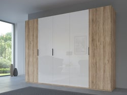 Rauch 20UP Front 6A Wardrobe with High Gloss White Front