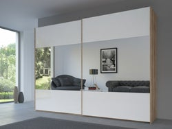 Rauch 20UP Front 8 Sliding Wardrobe with High Gloss White Front