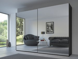 Rauch 20UP Front 8 Sliding Wardrobe with Mirror Front