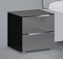 Rauch 20UP Bedside Cabinet with Glossy Glass Front and Top