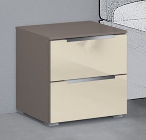 Rauch 20UP Bedside Cabinet with Glossy Glass Front