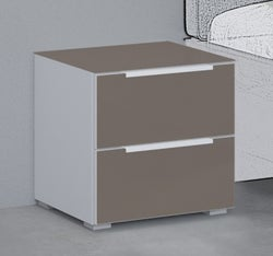 Rauch 20UP Bedside Cabinet with Matt Glass Front and Top