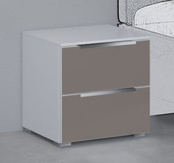 Rauch 20UP Bedside Cabinet with Matt Glass Front