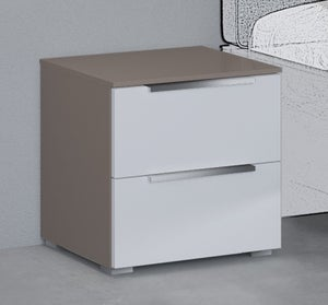 Rauch 20UP Bedside Cabinet with Matt White Front