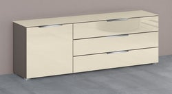 Rauch 20UP Cupboard with Glossy Glass Front and Top - H 124cm