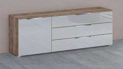 Rauch 20UP Cupboard with High Gloss Front - H 124cm