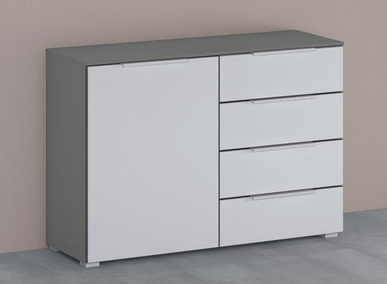 Rauch 20UP Cupboard with Matt Glass Front - H 84cm