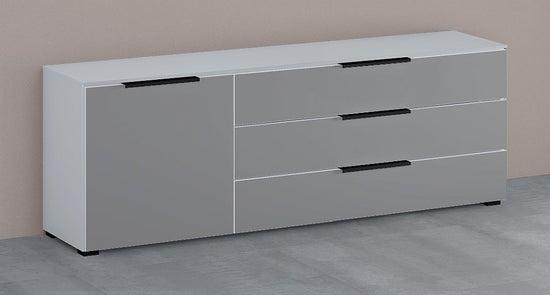 Rauch 20UP Cupboard with Matt Glass Front - H 124cm