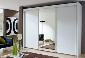 Rauch Amalfi 3 Door Mirror Sliding Wardrobe in White - W 300cm