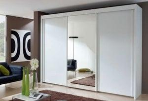 Rauch Amalfi Mirror Sliding Wardrobe with Carcase Color Handle Strip