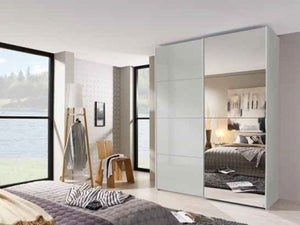 Rauch Beluga-Extra Grey Mirror Sliding Wardrobe