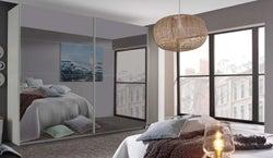 Rauch Filo 2 Mirror Door Sliding Wardrobe in Alpine White - W 137cm