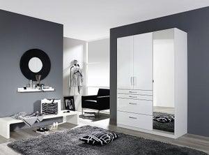 Rauch Homburg 3 Door Combi Wardrobe in White - W 136cm