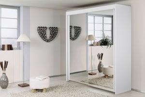 Rauch Imperial 2 Door All Mirror Sliding Wardrobe in White - W 181cm