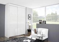 Rauch Imperial 2 Door Sliding Wardrobe in White - W 151cm