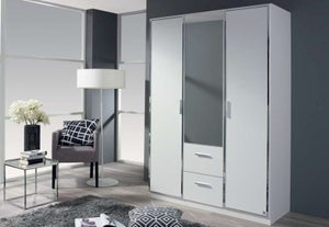 Rauch Marl 3 Door Combi Wardrobe in White - W 136cm